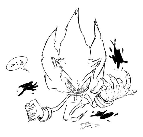 Fleetway Super Sonic Sonic Moose Art Super