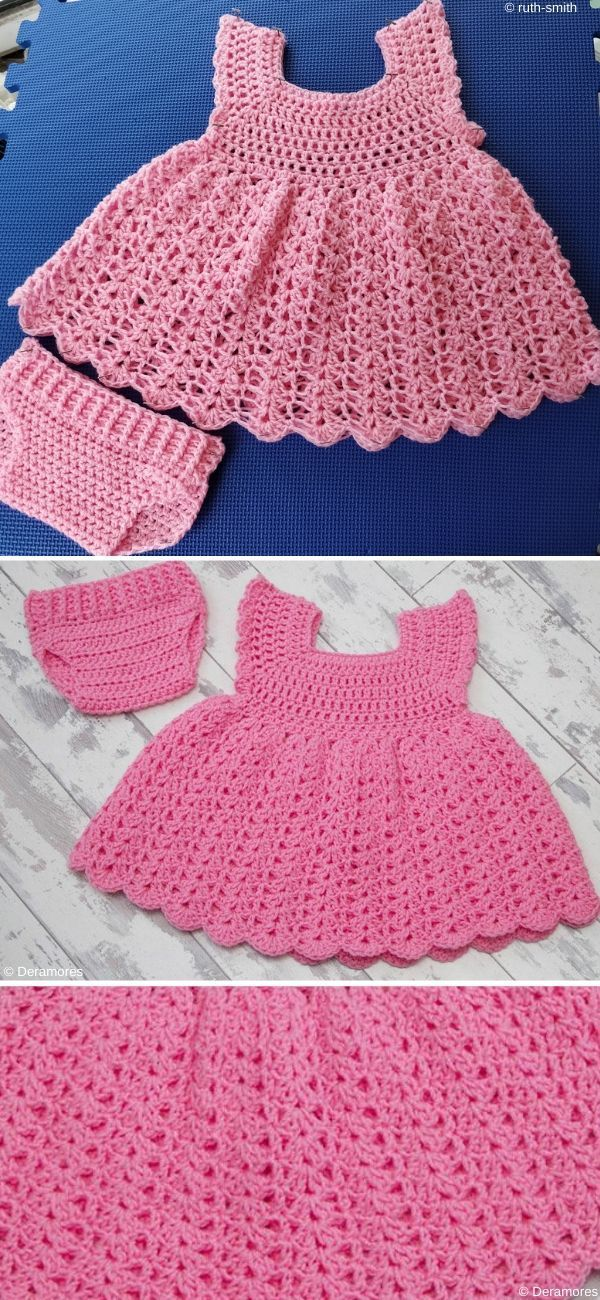Adorable Baby Dresses | Baby knitting, Baby girl patterns ...