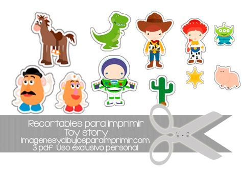 Recortables de #disney toy story #free #printables | toy story party ...