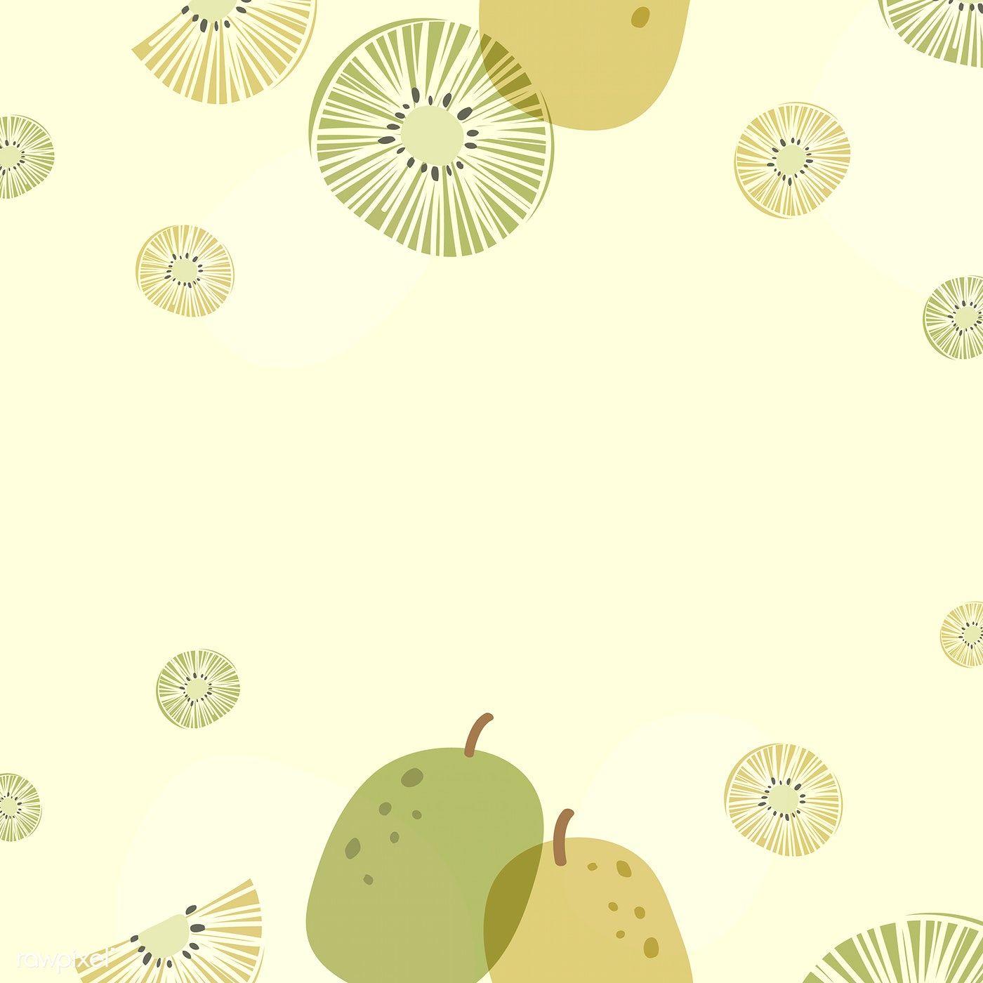 Download Premium Vector Of Kiwi Patterned Background With Design Space Ilustrasi Karakter Ilustrasi Kartu Kertas