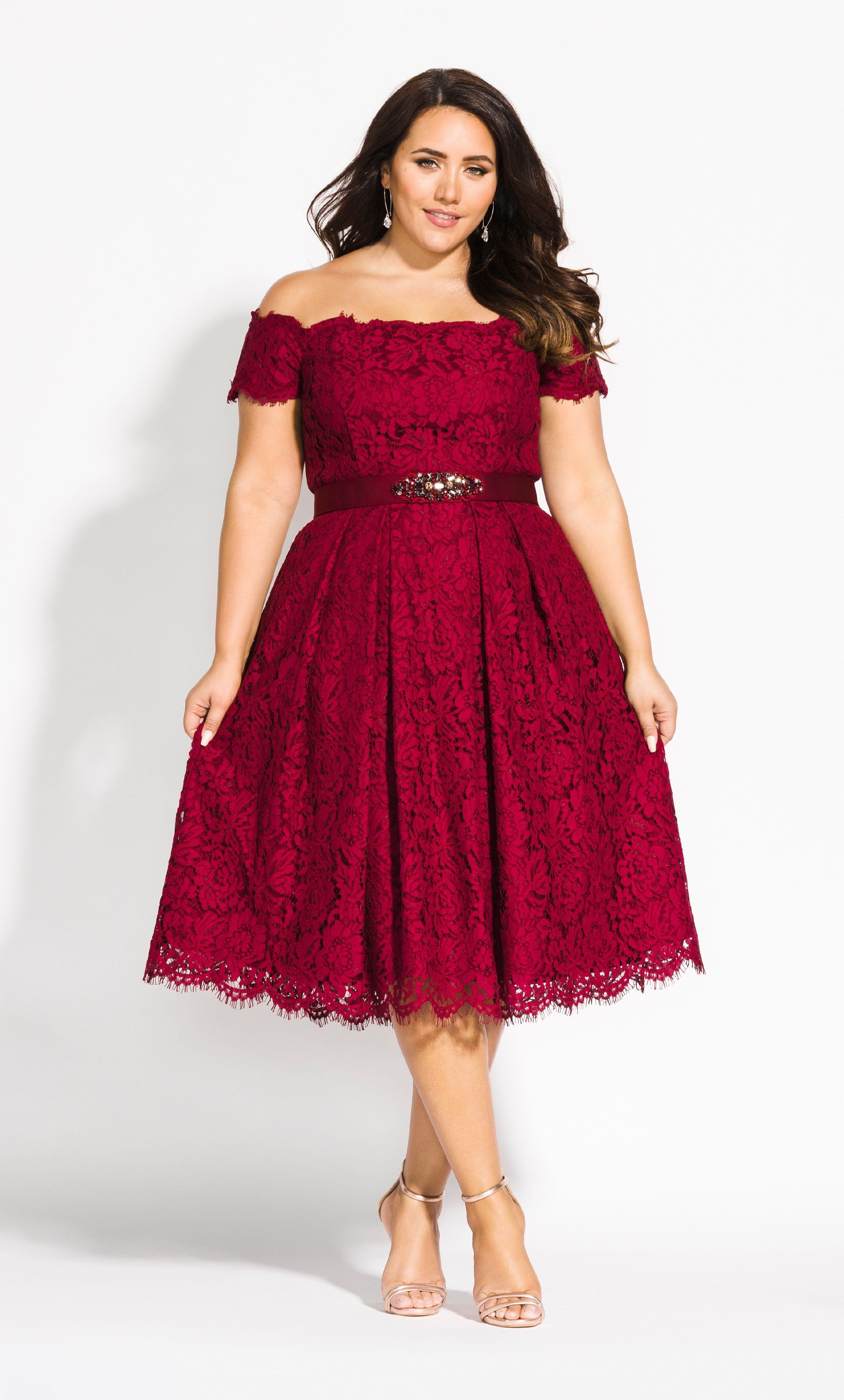 Lace Dreams Dress - ruby in 2019 | Plus size fashion for ...