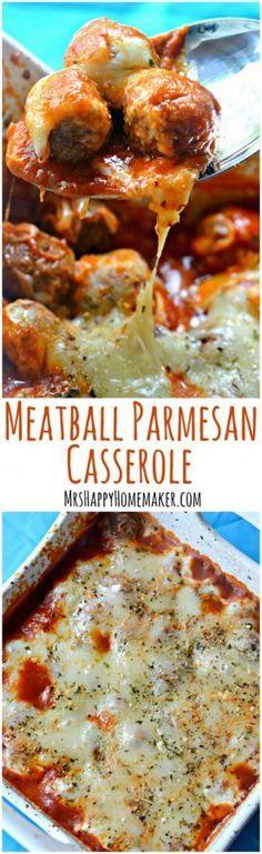 Photo of Meatball Parmesan Casserole – Mrs Happy Homemaker