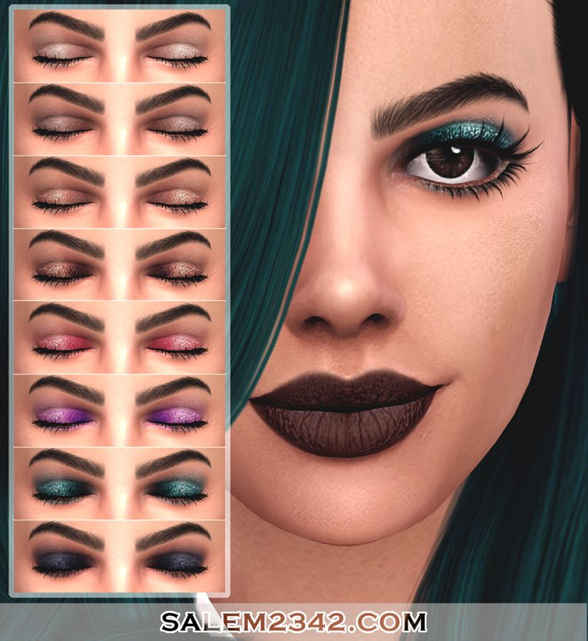 Lana CC Finds Eyeshadow 01 by salem Sims 4 Need List