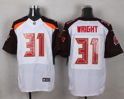 feffe6aac Men s Tampa Bay Buccaneers  31 Major Wright White Road NFL Nike Elite Jersey