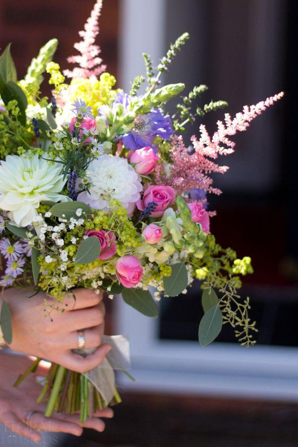 david austin garden rose bouquet white | Country Garden Wedding ...