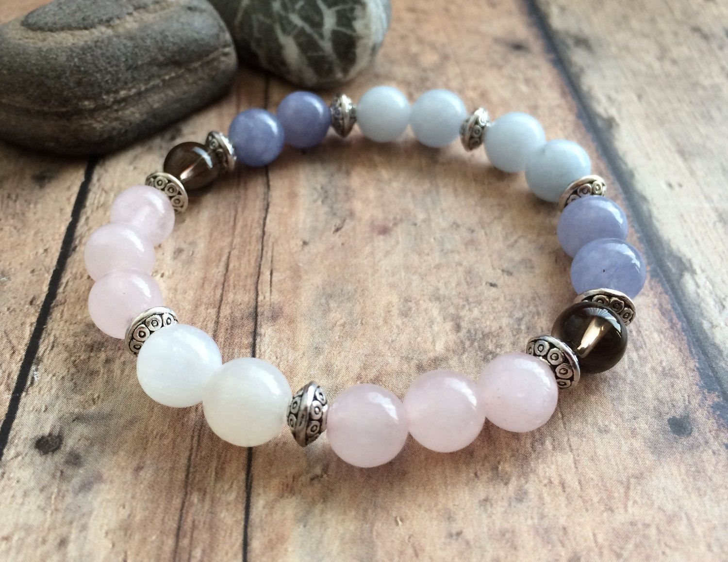 Ultimate Fertility Bracelet Moonstone Rose Quartz Aquamarine Feminine Energy Hope For