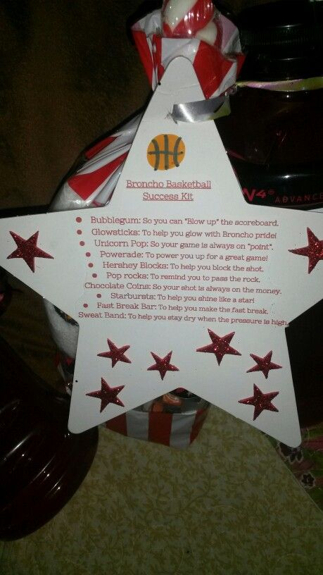 Basketball Player Success Kit Tag Basketball Gifts