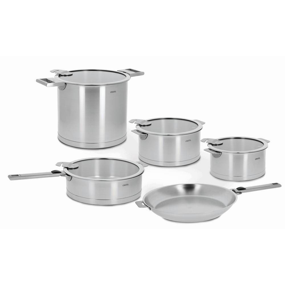 Cristel Strate 13 Piece Stainless Cookware Set With Lids