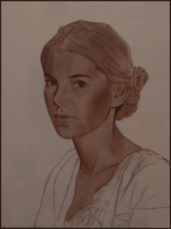 Portrait à la peinture à l'huile Scott E.