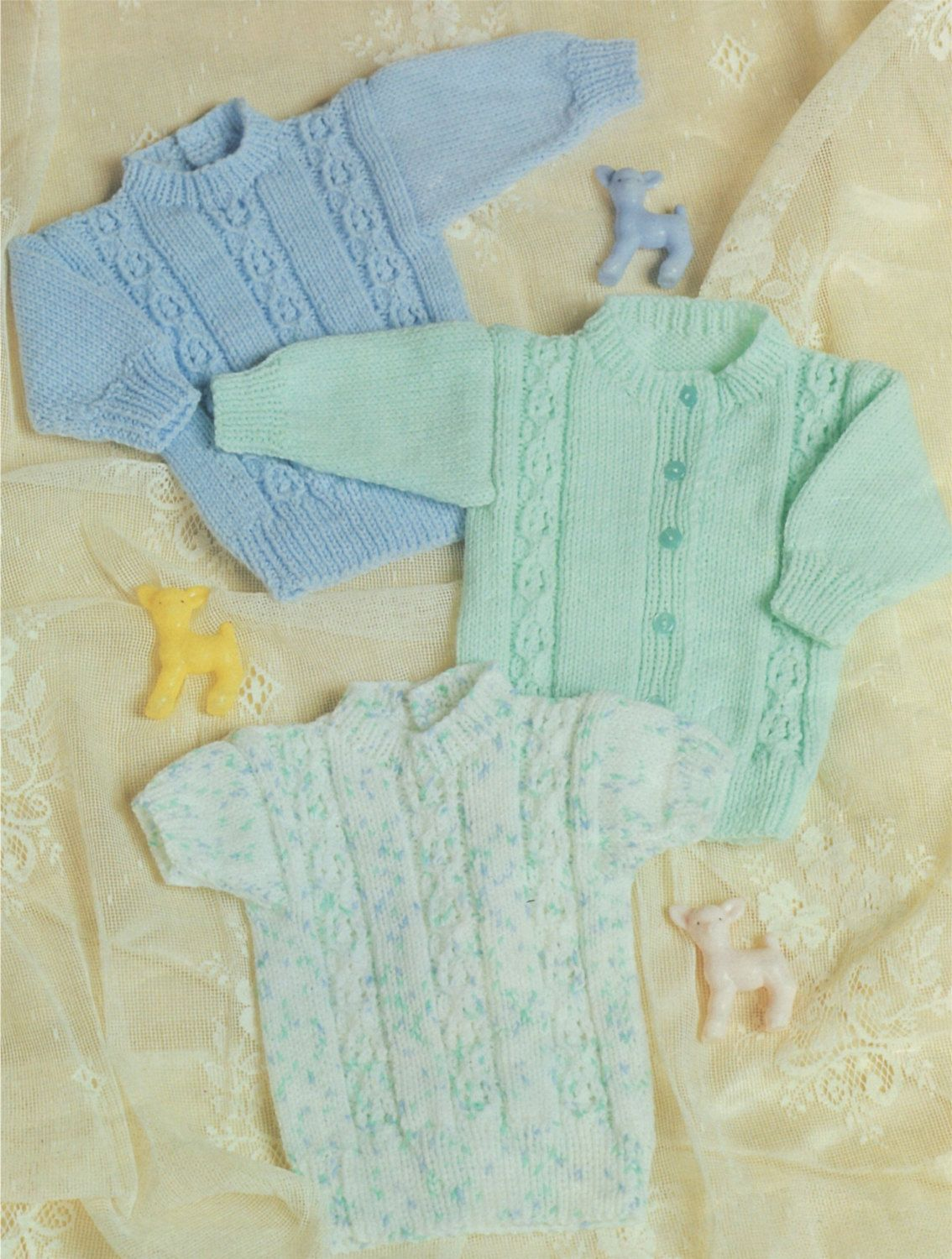Premature baby sweater and cardigan knitting pattern babies boy premature baby sweater and cardigan knitting pattern babies boy or girl 14 16 and 18 inch chest 36 41 and 46 cm pdf digital download bankloansurffo Choice Image
