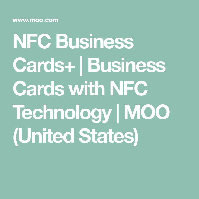 Nfc business cards business cards with nfc technology moo nfc business cards business cards with nfc technology moo united states colourmoves