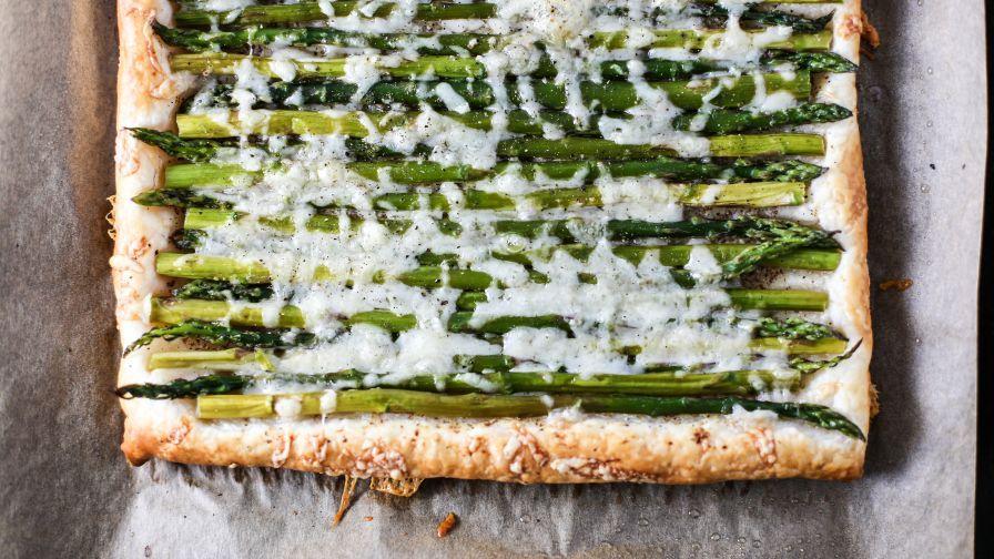 Asparagus Gruyere Tart Recipe Asparagus Recipe Food