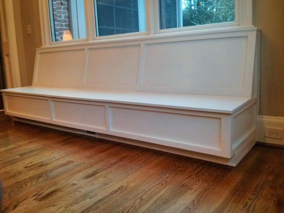 Peachy Window Storage Bench Bench Long White Custom Wooden Wall Onthecornerstone Fun Painted Chair Ideas Images Onthecornerstoneorg