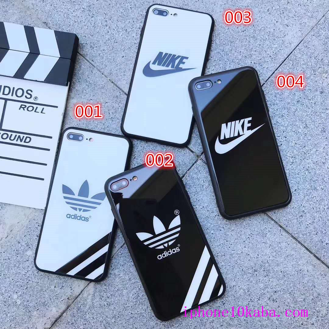 0c17f09991 携帯電話ケース · 強化ガラス アディダス ナイキ iPhoneX/8 Plus ハードカバー 鏡面デザイン ブランド nike iphone8  iphone7
