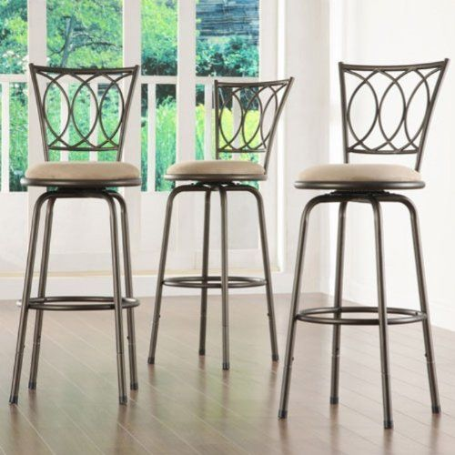 Home Creek Scrolled Detail Adjustable Swivel Barstools Set Of 3 Topline Furniture Http Www Amazon C Home Bar Furniture Swivel Bar Stools Kitchen Bar Stools