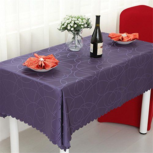 Tablecloth European Style Restaurant Table Cloth Rectangle Living Room Coffee Table Fashion Table Skirt Purple
