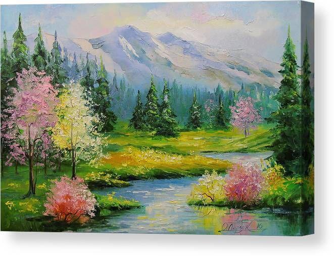 Spring Brook Canvas Print / Canvas Art by Olha Dar