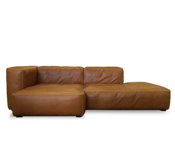hay mags soft sofa - open end - silk læder   sofa   pinterest   lofts