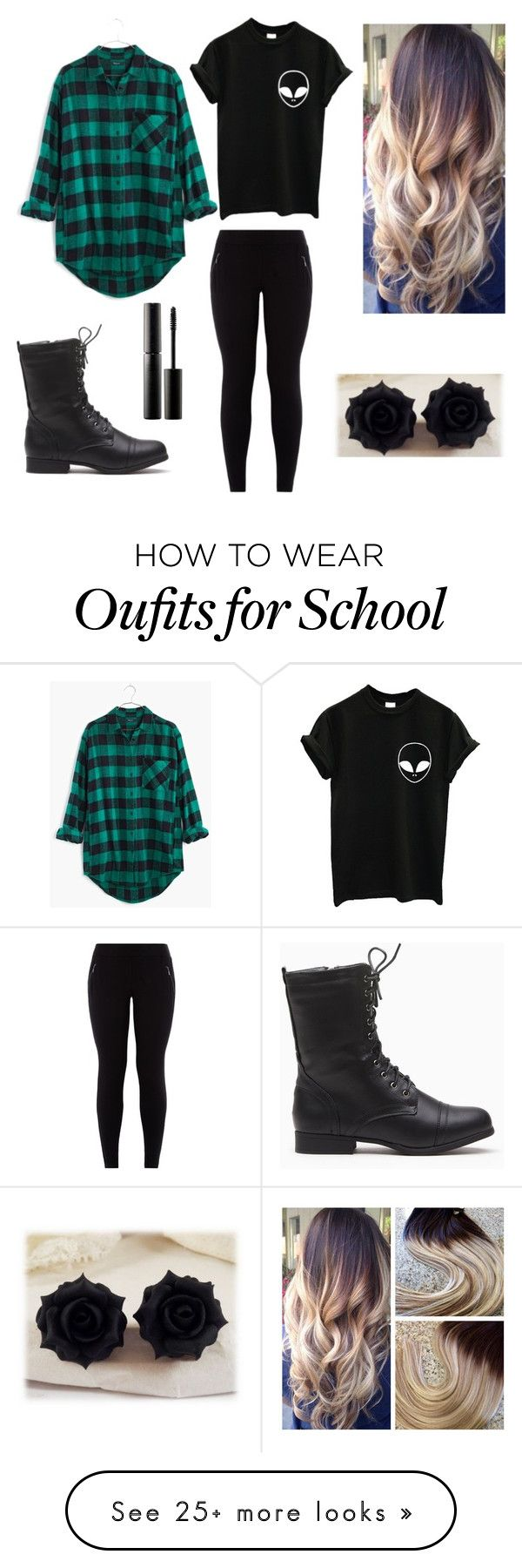 """""""To School Outfit"""" by mystics10 on Polyvore featuring Madewell and Surratt"""