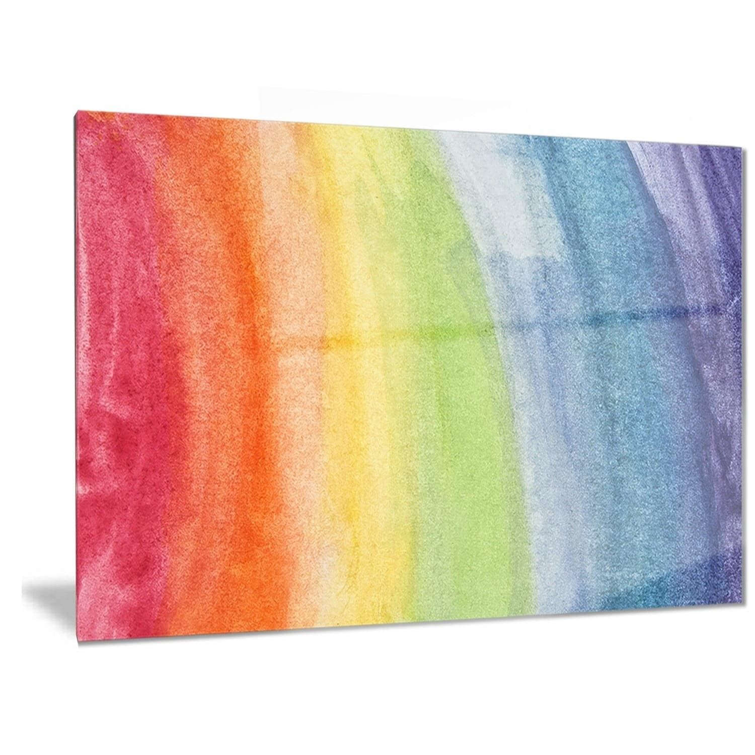 Designart \'Flowing Rainbow Colors\' Abstract Metal Wall Art ...
