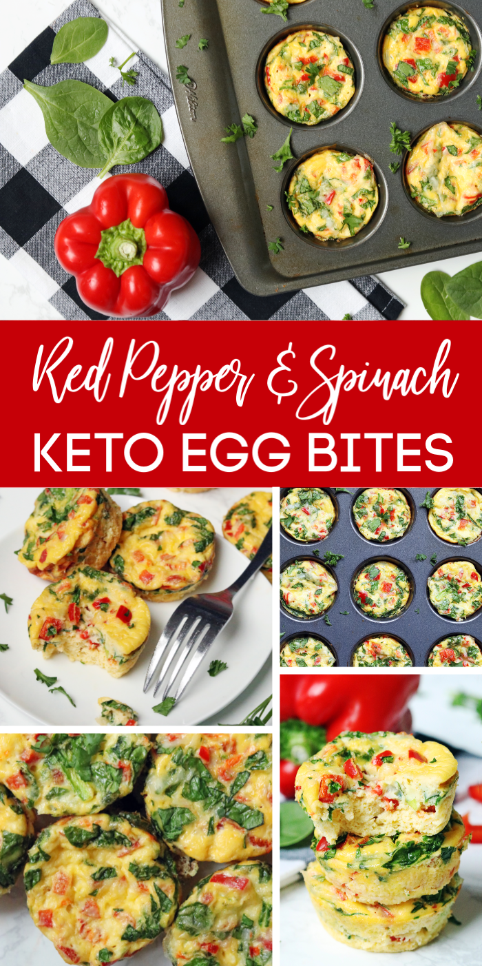 Spinach & Red Pepper Keto Egg Bites Recipe - Passion For Savings