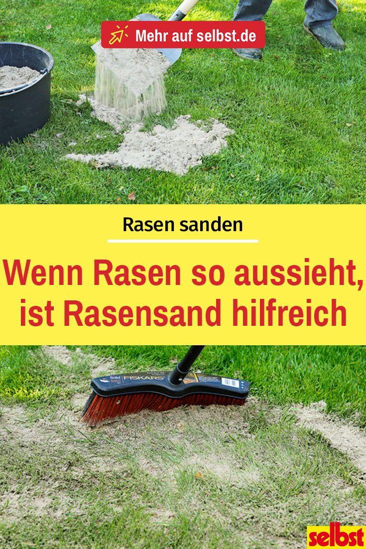 Rasen sanden | selbst.de #projekteimfreien