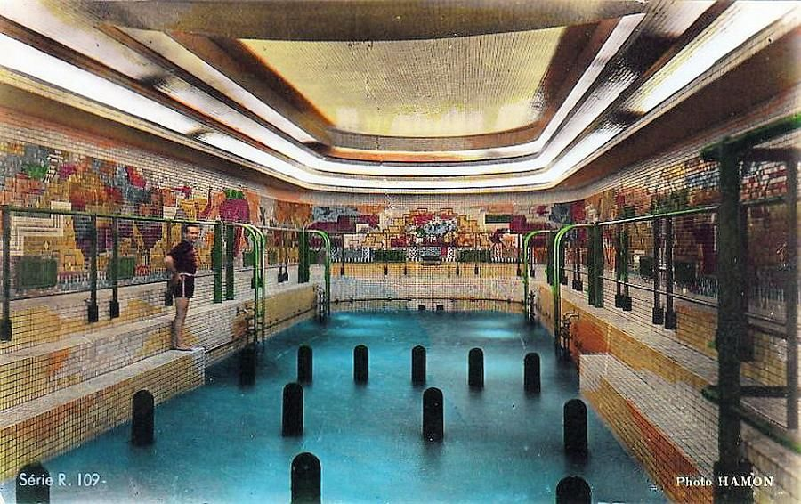 Superior SS Normandie Art Deco Swimming Pool  1935