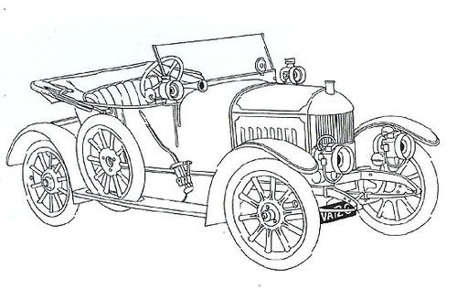 Classic Cars Coloring Pages donatecarus masculine cards - best of coloring pages antique cars
