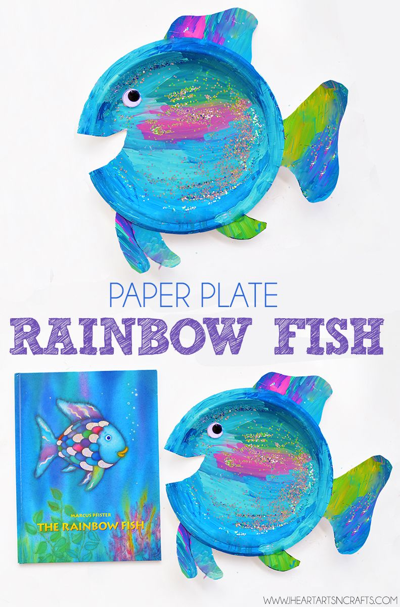 Paper Plate Rainbow Fish Craft Let S Tot School Manualidades
