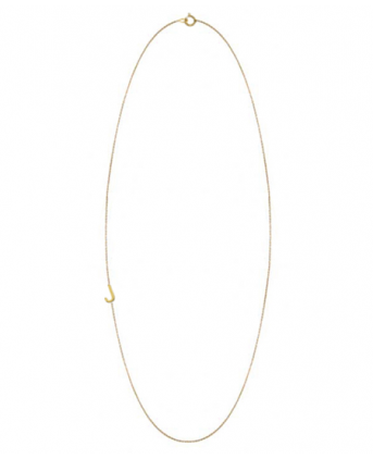 Asymmetrical mini letter necklace; J for Jessie of course.