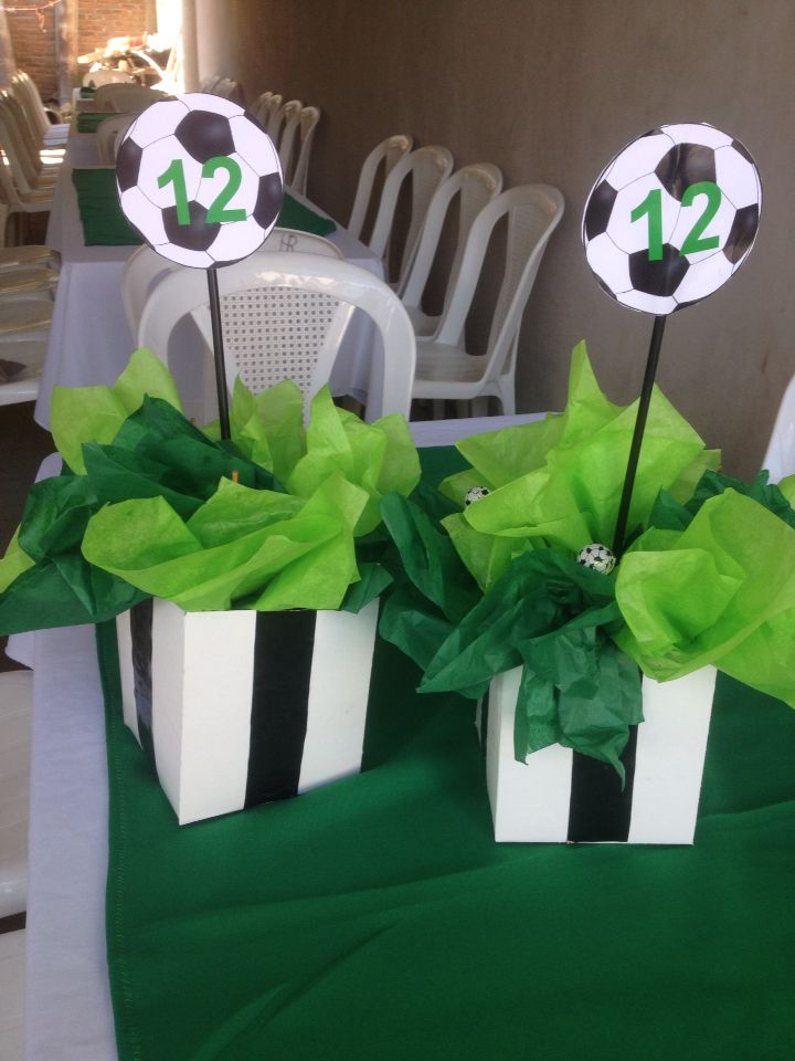 Centerpiece soccer eventitos pinterest centerpieces
