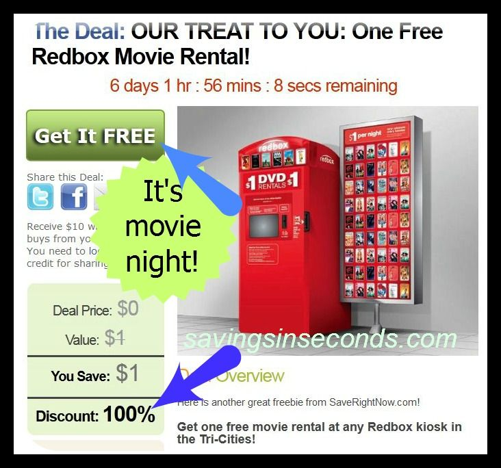 Free redbox movie more tricities deals
