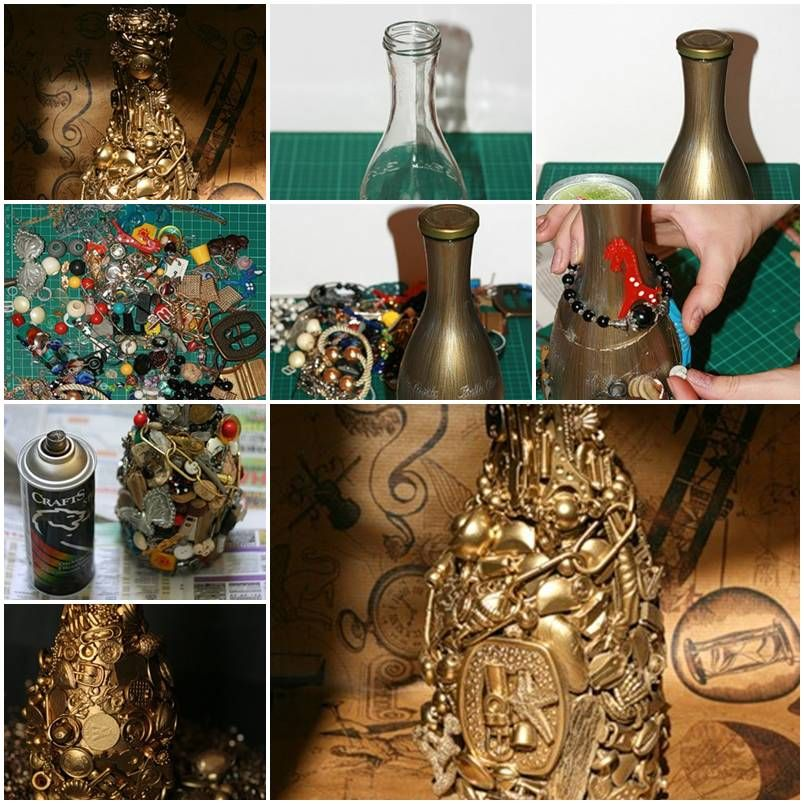 how to make pretty decorative jars and bottles with unwanted junk diy tutorial instructions how - Decorative Jars