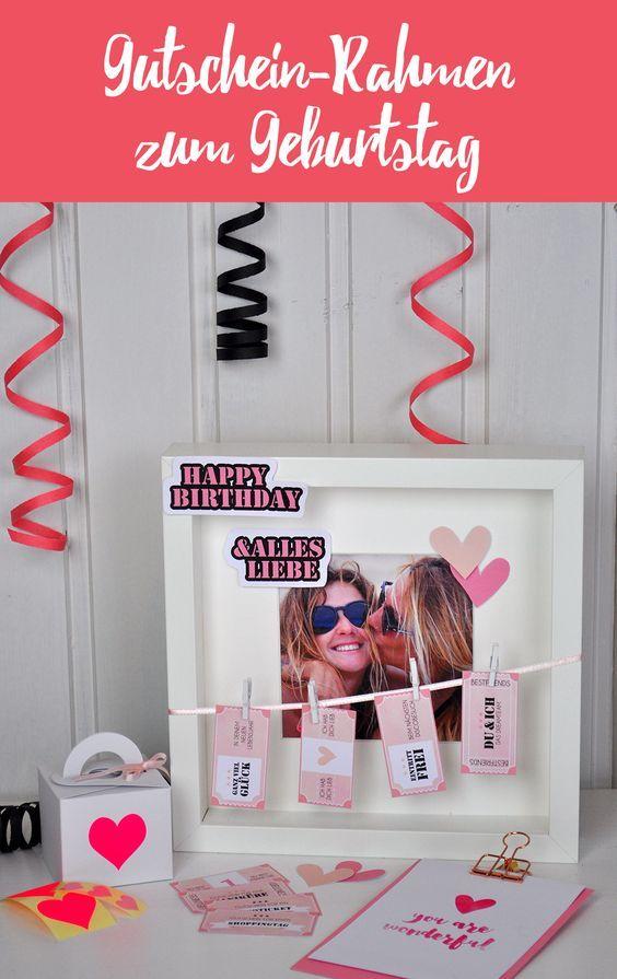 geschenk zur geburtstagsparty geschenkideen pinterest geschenke geschenk beste freundin. Black Bedroom Furniture Sets. Home Design Ideas