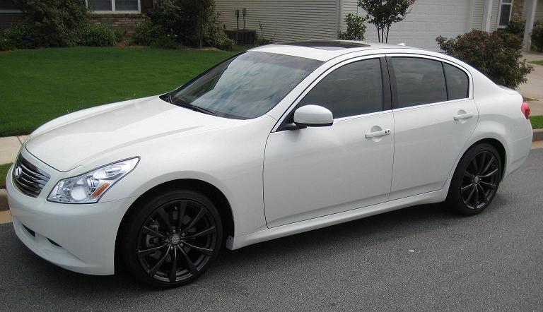 infiniti g37 white with black rims. 2009 infiniti g37 sedan white with black rims p