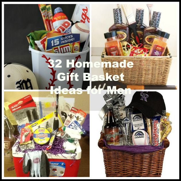 32 Homemade Gift Basket Ideas For Men Homemade Gift Baskets Homemade Gifts Homemade Christmas Gifts