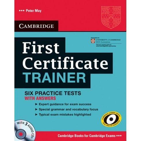 First Certificate Trainer иностранный язык английский язык дошкольное образование