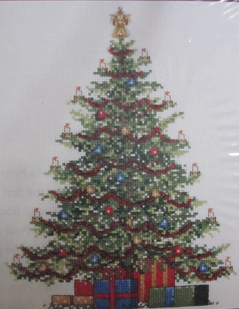 Christmas Tree Counted Cross Stitch Kit 309846 Leisure Arts Charm Beads Sealed Needlecraft Kits Leisure Arts Cross Stitch Patterns
