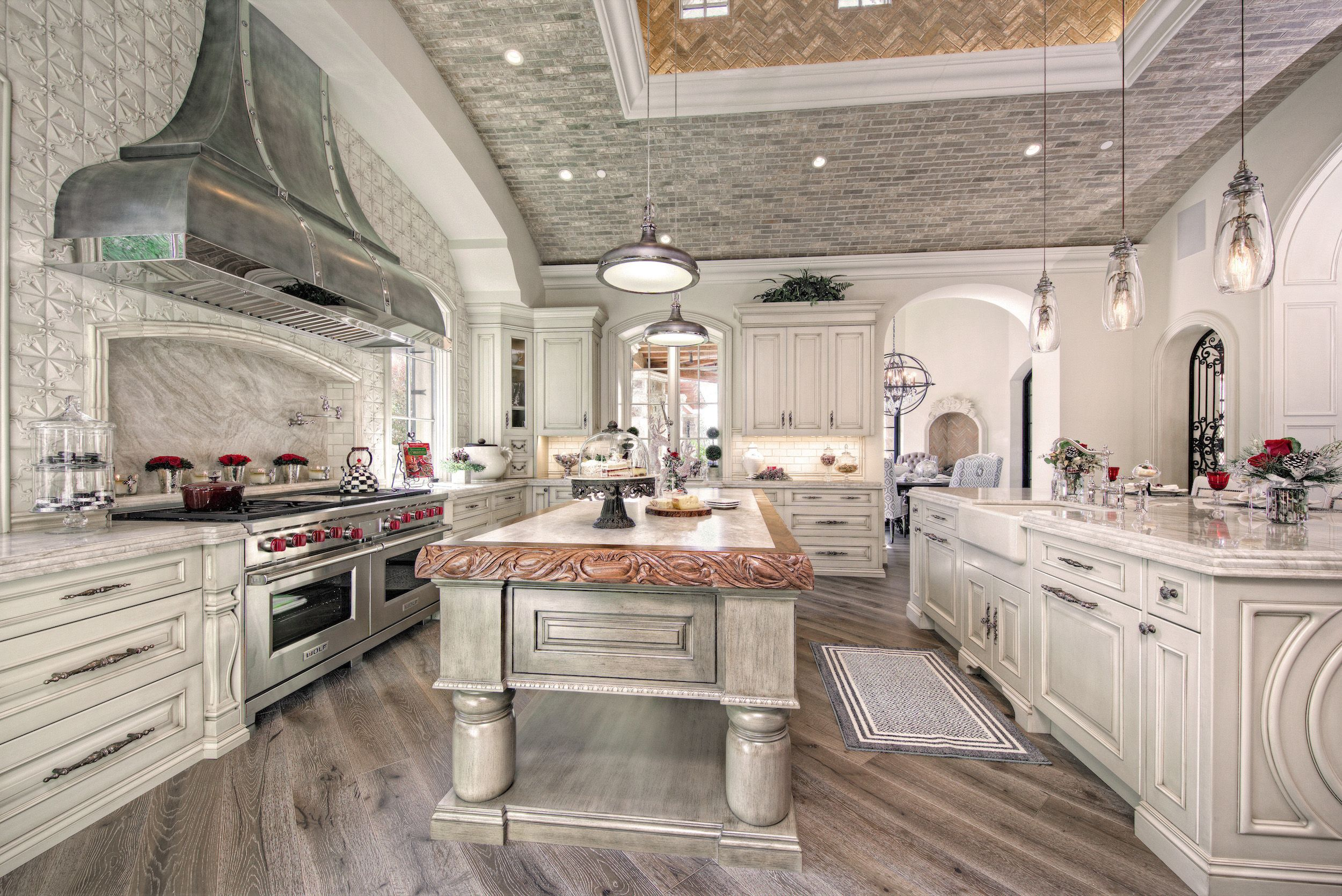 luxury french villa custom home kitchen with white wood on home interior design kitchen id=80523