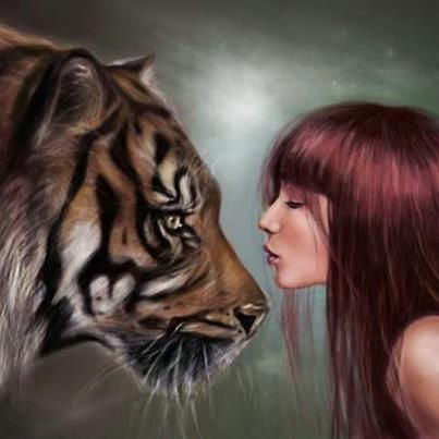 Women With Tiger Tigers Curse Tiger Curse And More Tigers The Tiger Girls The O Jays Tiger Girl Tiger Art Animals
