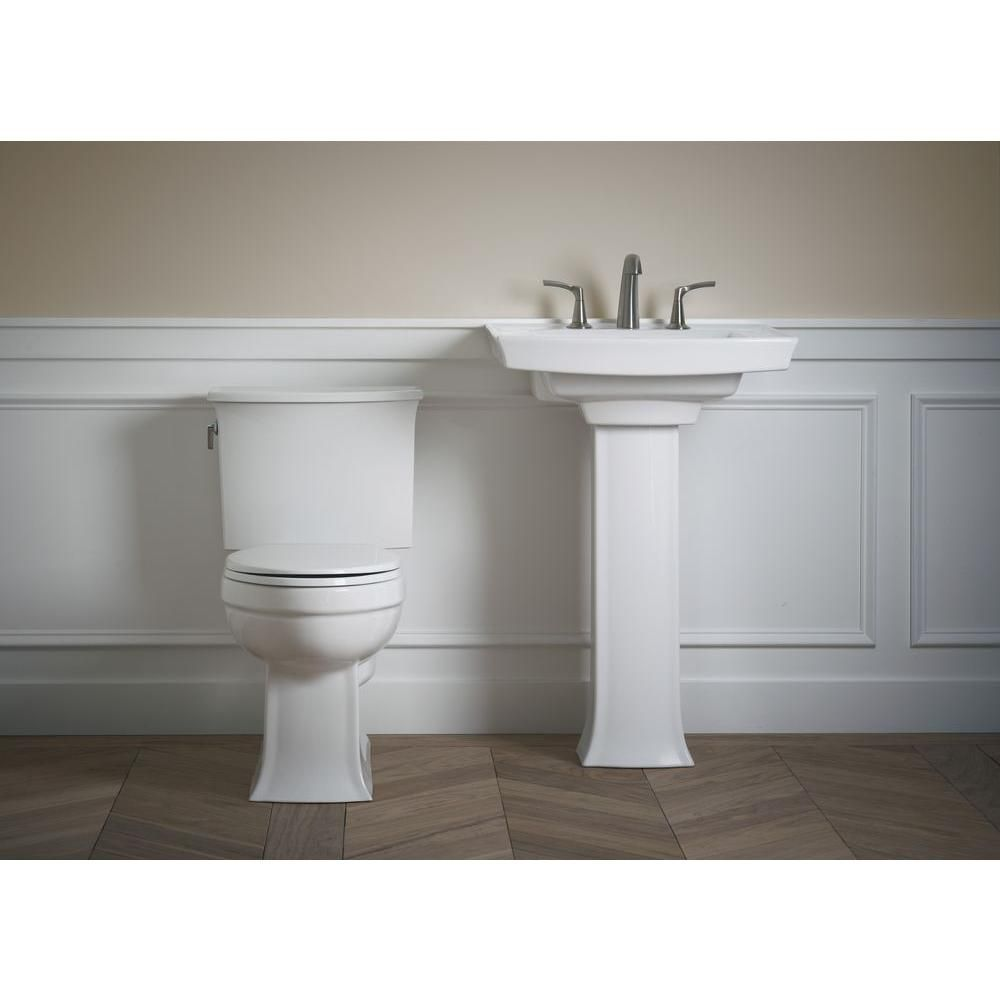 Kohler Archer Vitreous China Pedestal Combo Bathroom Sink In White