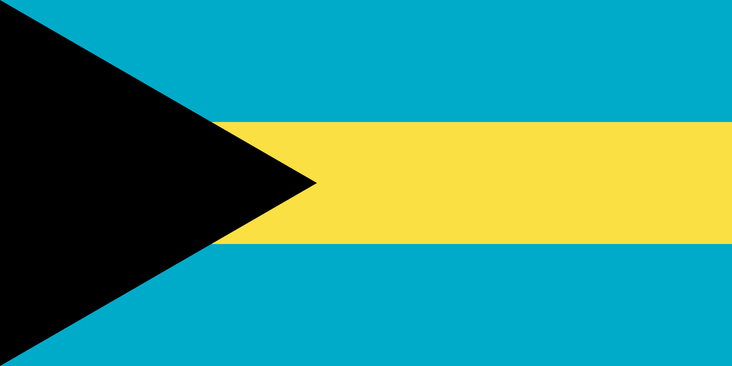 This Is The Flag Of The Bahamas E Bahamas Are Islands