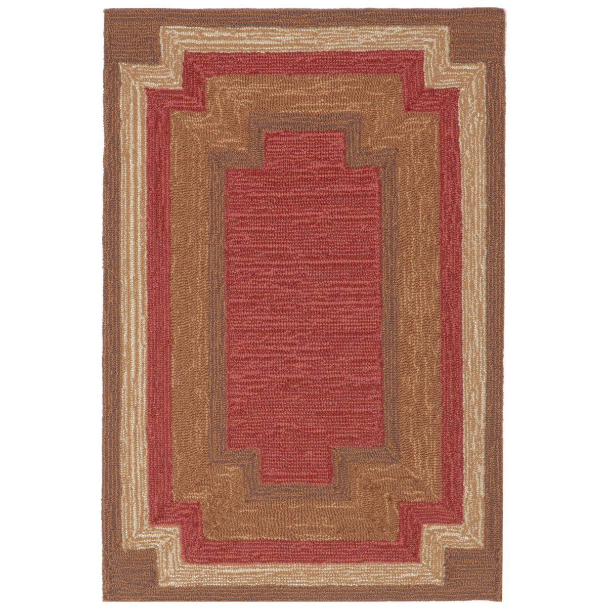 Liora Manne Ravella Border Red Area Rug 24 Inches X 36