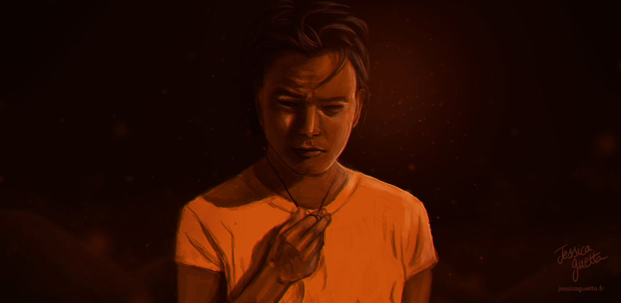 CHARLIE HEATON (stranger things actor) digital painting by JESSICA GUETTA. Jessicaguetta.tumblr.com . Instagram : @JessicaGuetta.  #art #digital #jessica #guetta #painting #stranger #things #charlie #heaton