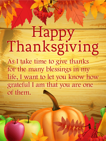 Thanks For The Many Blessings Happy Thanksgiving Card Birthday Greeting Cards By Davia Happy Thanksgiving Quotes Thanksgiving Quotes Thanksgiving Wishes