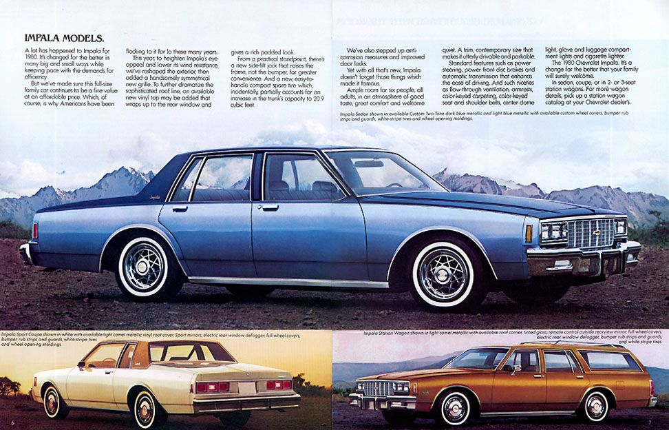 1981 Chevrolet Caprice Classic and Impala 20-page Sales Brochure Catalog Chevy