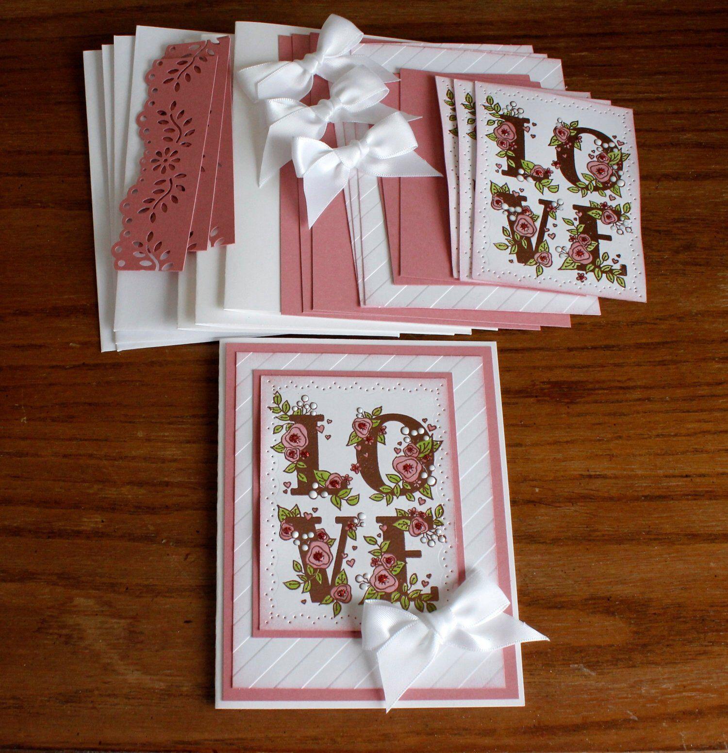 DIY Card Kit, Hand Stamped Wedding Anniversary, Wedding