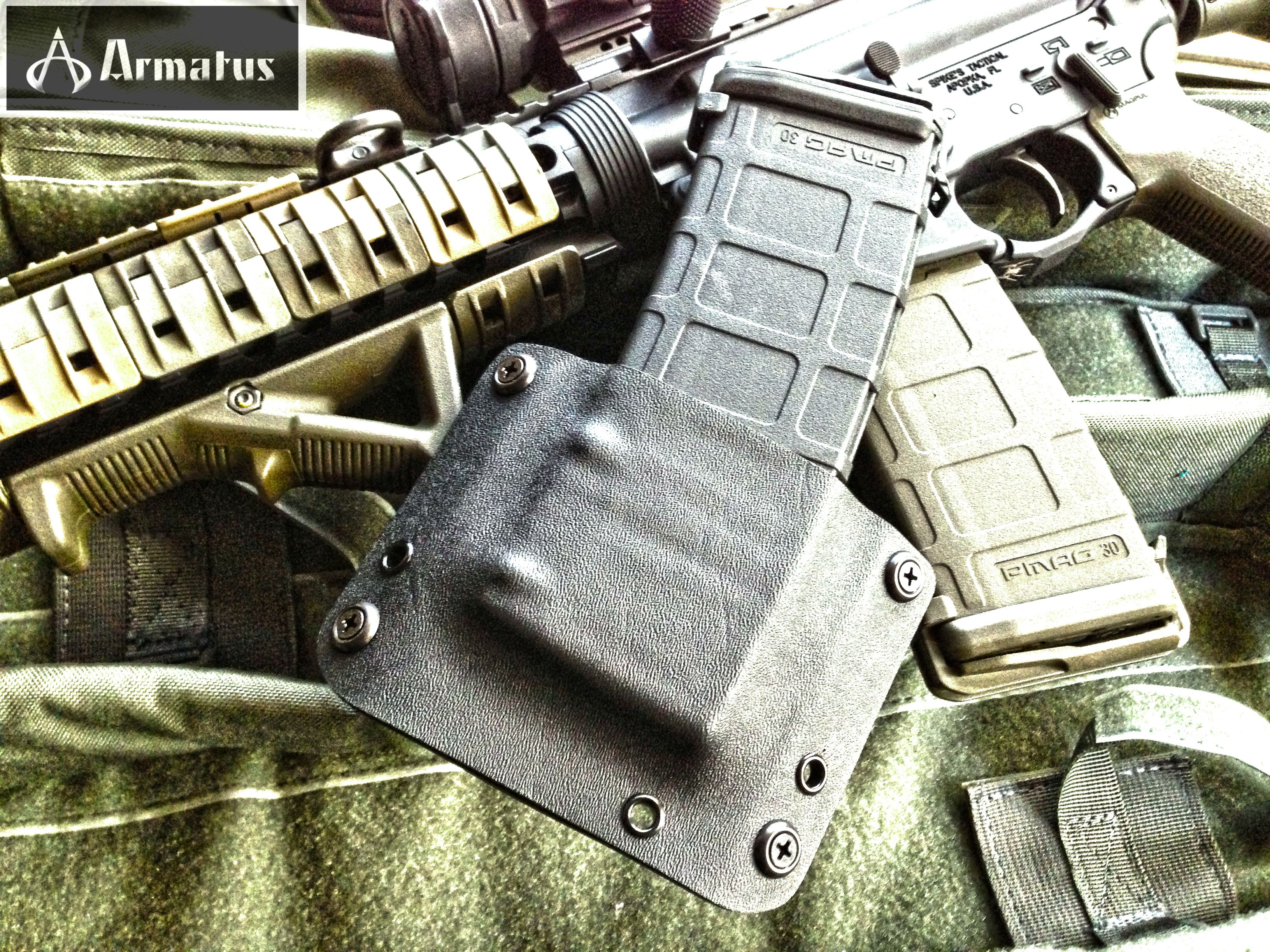 """P-Mag carriers are on sale this weekend for our Facebook fans.  They normally sell for $30, but this weekend we are selling them to our FB fans for $20.  If you want to place an order, email us through our website and let us know you saw this post.  We will send you a PayPal invoice for the discounted price (you do not need an account to checkout through PayPal).  As with all of our gear, the P-Mag carrier is covered by our """"Gear for Life"""" unconditional lifetime warranty."""