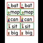 Students will play a matching concentration game with cards  Students will write down the matching CVC words they find, on worksheet provided on th...