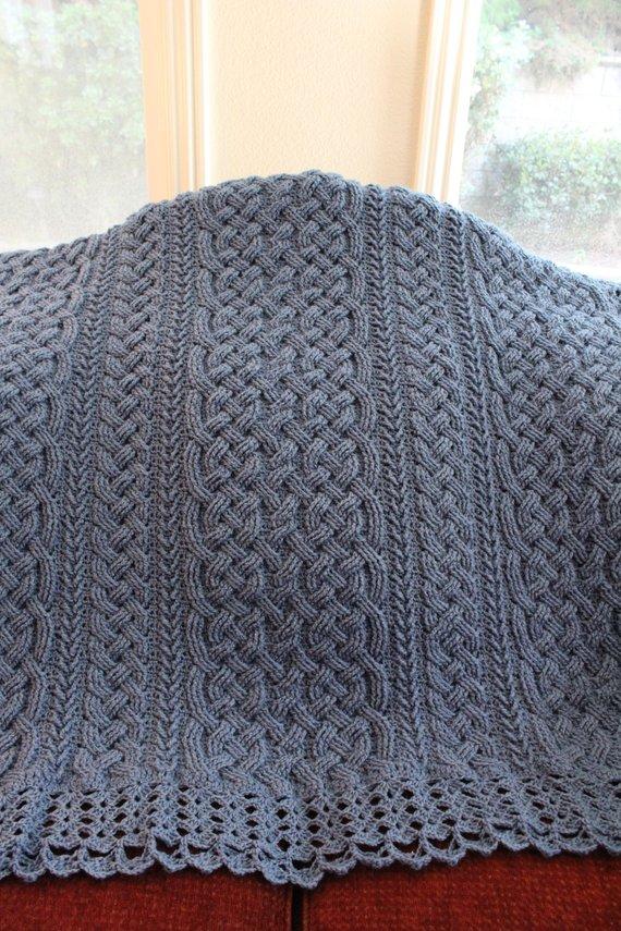 Crochet Blanket Pattern St Chapelle Braided Aran Cable Blanket